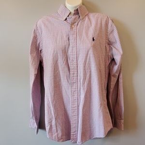 Ralph Lauren Classic Fit Pink/White Button…